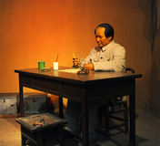 Wax figure of chairman Mao. SHAOSHAN - OCTOBER 1: wax figure of chairman Mao Zedong on October 1, 2011 in Shaoshan, China. This wax figure has been made to honor Royalty Free Stock Photography
