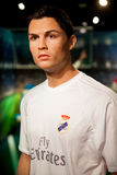 Wax figure of Cristiano Ronaldo soccer player in Madame Tussauds Wax museum in Amsterdam, Netherlands Royalty Free Stock Images