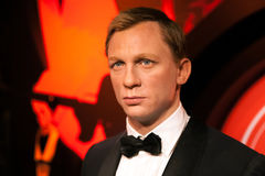 Wax figure of Daniel Craig as James Bond 007 agent in Madame Tussauds Wax museum in Amsterdam, Netherlands Stock Images