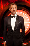 Wax figure of Daniel Craig as James Bond 007 agent in Madame Tussauds Wax museum in Amsterdam, Netherlands Royalty Free Stock Images