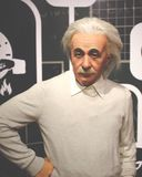 Wax figure of Einstein stock photos