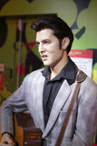 Wax figure of elvis presley Stock Image