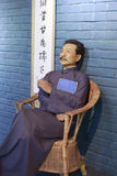 Wax figure of famous chinese writer lu xun Royalty Free Stock Photo