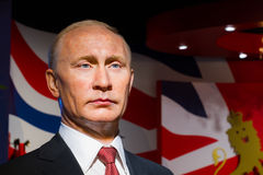 Wax figure of the famous Vladimir Putin Stock Photos