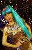 Wax statue of american pop star lady gaga at madame tussauds in hong kong stock images