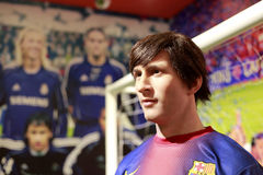 Wax figure of leo messi of fc barcelona royalty free stock photos