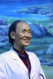 Wax figure of lin qiaozhi(linqiaozhi) Royalty Free Stock Photo