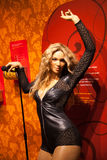 Wax figure of Madonna singer in Madame Tussauds Wax museum in Amsterdam, Netherlands Royalty Free Stock Photography