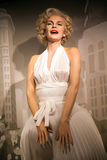 Wax figure of Marilyn Monroe, american actress and model in Madame Tussauds Wax museum in Amsterdam, Netherlands Royalty Free Stock Photo