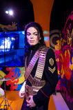 The wax figure of Michael Jackson in Madame Tussauds Singapore. Royalty Free Stock Image