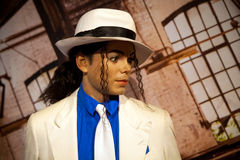 Wax figure of Michael Jackson in Madame Tussauds Wax museum in Amsterdam, Netherlands Stock Images