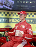 Wax figure of michael schumacher Stock Photo