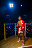 The wax figure of Muhammad Ali in Madame Tussauds Singapore. Royalty Free Stock Image
