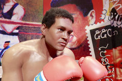 Wax figure of muhammed ali. Wax figure of the famous boxing champion muhammed ali Stock Photos