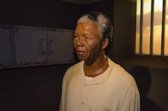 Wax figure of Nelson Mandela in Madame Tussauds museum in Vienna. royalty free stock images