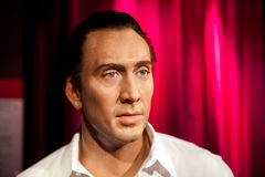 Wax figure of Nicolas Cage in Madame Tussauds Wax museum in Amsterdam, Netherlands Royalty Free Stock Images