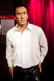 Wax figure of Nicolas Cage in Madame Tussauds Wax museum in Amsterdam, Netherlands Royalty Free Stock Image