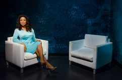 The wax figure of Oprah Winfrey in Madame Tussauds Singapore. Royalty Free Stock Image