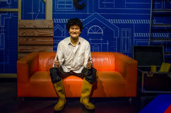 The wax figure of Phua Chu Kang in Madame Tussauds Singapore. Stock Images