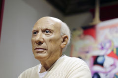 Wax figure of picasso Stock Images