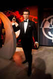 Wax figure of Pierce Brosnan as James Bond 007 agent in Madame Tussauds Wax museum in Amsterdam, Netherlands Stock Photography
