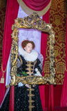 Wax figure of Queen Elizabeth I  At Madame Tussauds  Museum. London Stock Photos