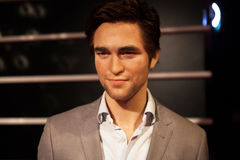 Wax figure of Robert Pattinson in Madame Tussauds Wax museum in Amsterdam, Netherlands Stock Photography