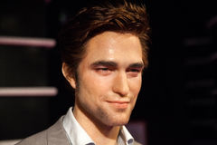 Wax figure of Robert Pattinson in Madame Tussauds Wax museum in Amsterdam, Netherlands Royalty Free Stock Photos