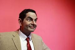 Wax figure of rowan atkinson Royalty Free Stock Images