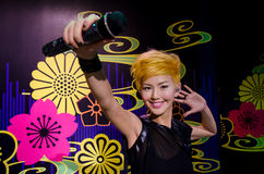 The wax figure of Stefanie Sun in Madame Tussauds Singapore. Royalty Free Stock Photo