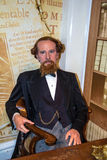 Wax figure  of world-famous British writer Charles Dickens at Madame Tussauds museum. London Royalty Free Stock Photos