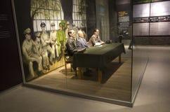 Wax figures soldiers Korean War Memorial of Korea Stock Image
