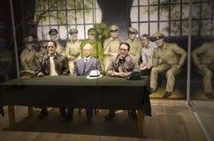 Wax figures soldiers Korean War Memorial of Korea Royalty Free Stock Photos