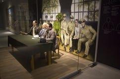 Wax figures soldiers Korean War Memorial of Korea Stock Images