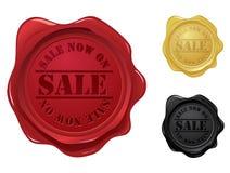 wax för försäljningsskyddsremsastämpel Arkivfoto