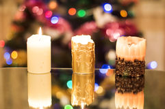 Wax, holiday candles Stock Image