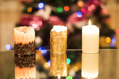 Wax, holiday candles Stock Images