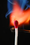 Wax match on fire Stock Image