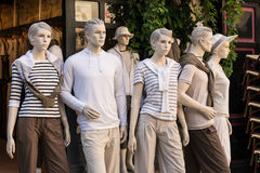 Wax Models. Outside a shop in France Stock Image