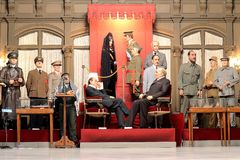 Wax museum. World leaders and politicians in wax museum Barcelona, Spain royalty free stock photos