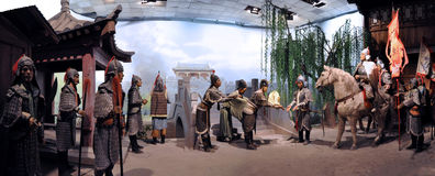 The Wax Museum about Chinese History Stock Photography