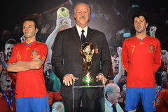 Wax museum in Madrid Stock Images
