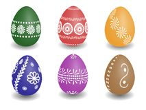 Wax painted easter eggs Royalty Free Stock Photo