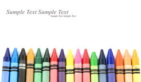 Wax pencils Stock Images