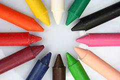 Wax pencils Stock Image