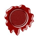 Wax printing. Wax seal insulated on white background royalty free illustration