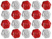 Wax Roses Seals Background Royalty Free Stock Images