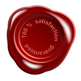 wax seal 100% satisfaction Stock Photos