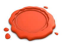 Wax seal. 3d illustration of wax seal over white background Royalty Free Stock Photography