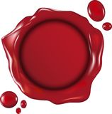 Wax seal. Illustration of a wax seal Stock Illustration